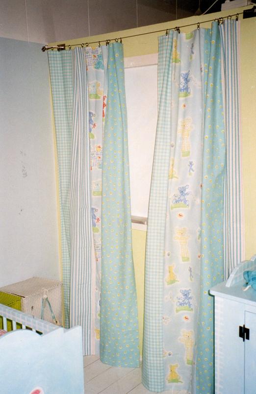 gordijnen met klemmetjes op spandraad - Naaiatelier Bianca van Gool